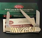 Case XX USA 6318 NIB Zebra Steipe Bone Stockman 2005 Knife