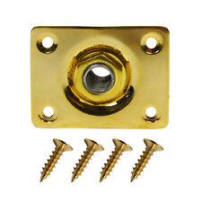 "1pcs Golden Color Rectanglar Jack Plate Electric Guitar Output Jack 1/4"" Jack"