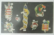 VINTAGE disegnata a mano color Tattoo Flash BILLY Marrone SCOZIA non MACCHINA