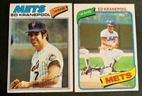 Ed Kranepool 1977 Topps #201 and 1980 # 641 - Mets