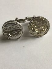 From English Modern Pewter Clubbing Coin Tg216 Cufflinks Made