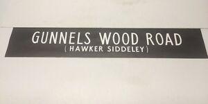 "Stevenage Bus Blind 1978 42""- Gunnels Wood Road Hawker Siddeley"