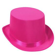 Pink Satin Sleek Tuxedo Top Hat Breast Cancer Awareness