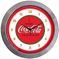 New 1910 old style Drink Coca Cola In Bottles neon clock  More Coke & soda avail