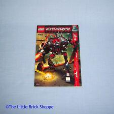 Lego exo-force 7702 Thunder Fury Instruction Book Seulement-Pas de briques lego