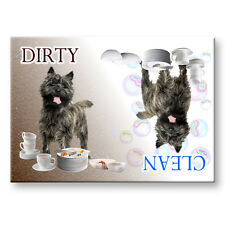 CAIRN TERRIER Clean Dirty DISHWASHER MAGNET No 1
