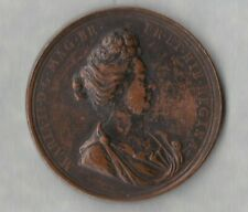 More details for 1688-1694 maria ii mary as regent great britain bronze medal in good fine