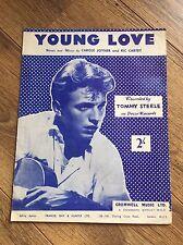Tommy Steele-années 50 Sheet Music-Young Love-par Carol Joyner & RIC CARTEY