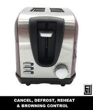 Bos & Sarino 2 Slice Stainless Steel Toaster - Red