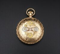 1893 14k White Yellow Rose Elgin Hunter Keystone Case Pocket Watch 0s 7j W317
