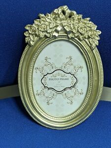 Champagne Gold Oval Picture Frame  height 26cm