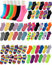 Lot Of 6-12 Pairs Womens Assorted Styles Low Cut Ankle Socks Cotton Size 9-11