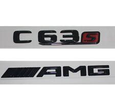 Glanz Schwarz 3D Briefe Kofferraum Abzeichen Emblem Emblems für Benz C63 S AMG