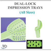 Disposable Dental Dual Lock Impression Trays With Rim Lock (CHOOSE SIZE) 12/Bag