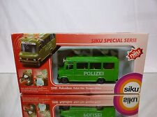 SIKU 2981 MERCEDES BENZ POLIZEIBUS - POLICE VAN - GREEN 1:55? - GOOD IN BOX