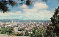 Postcard Looking Over Spokane Washington