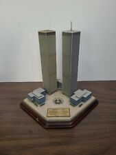 9-11 Twin Towers Danbury Mint Commemorative Display With George Bush Quote