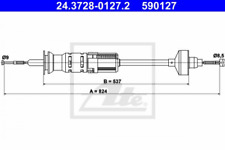 Seilzug, Kupplungsbetätigung für Kupplung ATE 24.3728-0127.2
