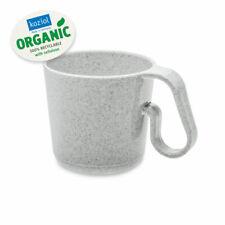 Koziol Henkeltasse Maxx organic grey Henkelbecher Kunststoff Camping Kaffeetasse