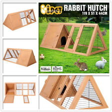 Rabbit Hutch Chicken Coop Guinea Pig Ferret Cage Hen Chook Timber Wood House Run
