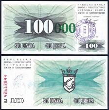 BOSNIA HERZEGOVINA 100.000 Dinara 15.10.1993 UNC P 56 e