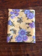 Floral Yellow Blue Lavender Fabric Fat Quarter Cotton Quilting Daisy
