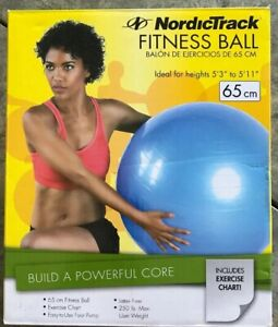 """NordicTrack Fitness Ball 65cm Ideal for heights 5'3"""" to 5'11"""""""
