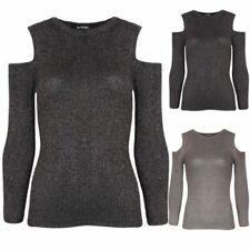 Unbranded Hip Length Polyester Long Sleeve Jumpers & Cardigans for Women
