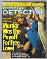 ORIGINAL Vintage September 1977 Official Detective Magazine GGA