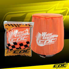 Water Guard Cold Air Intake Pre-Filter Cone Filter Cover Mustang Medium Orange