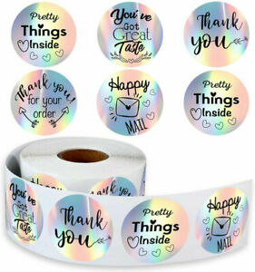 Thank You For Your Order Stickers Labels Seal Favours Happy Mail Small Business