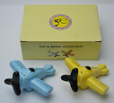 Airplane Aviation Salt & Pepper Shakers Five and Dime New York to Telaviv NEW