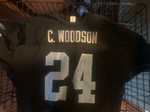 RARE AUTOGRAPHED Authentic Charles Woodson Oakland Raiders Signed Black Jersey