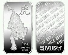1 oz Sunshine Mint .999 Fine SILVER Year of the TIGER Lunar Bar USA Rare Limited