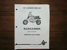 Vintage 1971 Arctic Cat Screamer Parts List Manual Model 2326-001 Mini Bike