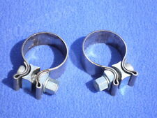 Harley set of 2 exhaust system muffler clamps touring softail dyna xl fatboy flt