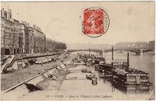 CPA -69-  LYON - Quai de l'Hôpital et Pont Lafayette ( nombreuses plattes).