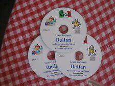 Learn to Speak ITALIAN a complete Mp3 & PDF course of 90 lessons - 3 Mp3 CDs