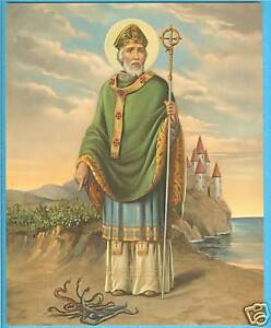"""Catholic Print St. Patrick Ireland  ~  Great Picture! 8x10"""" ready to be framed"""