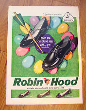 1959 Robin Hood Shoe Ad  Easter Theme