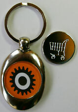 Shopping Trolley Token Key Ring A Cloclwork Orange Trolley Coin Silver Plated