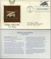 1899 WINTON-ANTIQUE AUTOMOBILE' 1ST DAY ISSUE GOLD [22KT] REPLICA STAMP 1995