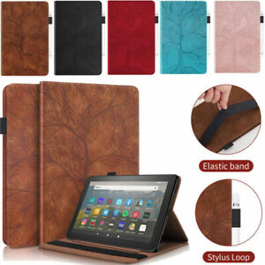 Leather Case Cover For Amazon Kindle Fire HD 8 10 Plus 11th 10th 8th 7th 6 5 Gen