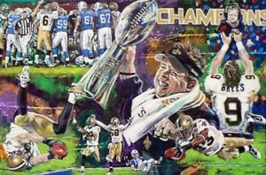 Fine art print celebrating the New Orleans Saints XLIV Super Bowl Win