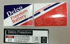 High Quality Delco Freedom Battery - Decal Set