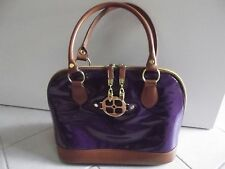 Iman Purple Purse Large Tote Handbag