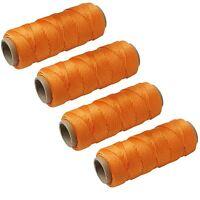 4 X Orange 50M Builders Building Brick Laying Measuring Masonry Rope String Line