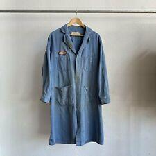 Vintage 60's Miller Herringbone Butcher's Mechanic Coat Tagged 38 Fits Large