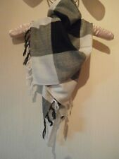 Black and white ladies scarf. New