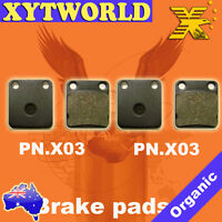 FRONT Brake Pads for YAMAHA YFM 350 Grizzly 2004-2009 2010 2011 2012 2013 2014